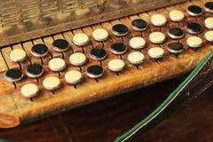 Sleutels van harmonika royalty-vrije stock foto
