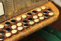 Sleutels van harmonika stock foto's