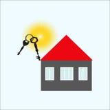 Sleutels van het huis vector illustratie