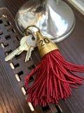 Sleutels van hotelroom nummer 20 royalty-vrije stock foto