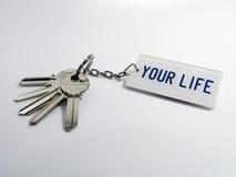 Sleutels van uw leven royalty-vrije stock foto