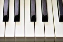 Sleutels van zich een digitale piano, het zachte concentreren, een creatieve stemming van een persoonsimprovisatie en een creativ stock foto