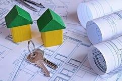 Sleutelslevering van huisvesting stock afbeelding