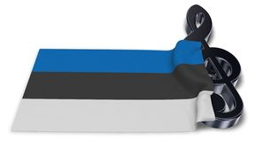 Sleutelsymbool en Estlandse vlag Stock Foto
