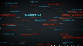 Sleutelwoorden bedrijfs marketing zilver stock illustratie