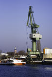 Slewing crane port Royalty Free Stock Photos