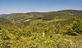 Slezske Beskydy mountain range Stock Images