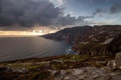 Sliabh Liag. (Slieve League) cliffs in Donegal Royalty Free Stock Photos