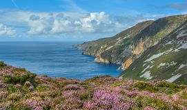 Slieve League, County Donegal, Ireland. Sliabh Liag, sometimes Slieve League or Slieve Liag, is a mountain on the Atlantic coast of County Donegal, Ireland Royalty Free Stock Image