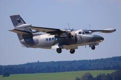 Turbolet l410. SLIAC, SLOVAKIA - AUGUST 30: Turbolet l410 fighter plane at SIAF airshow in Sliac, Slovakia Stock Photo