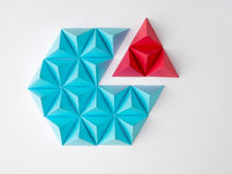 Slice. Abstract tetrahedron pie chart background. Copy space available. Usefull for business and web Stock Photo