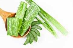 Slice Aloe Vera. Stock Photography
