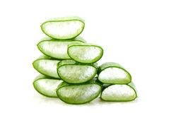 Slice Aloe Vera, a very useful herbal medicine for skin care and Stock Photography
