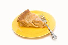 Slice American Apple Pie Royalty Free Stock Photos