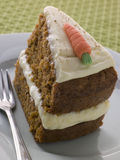 Slice Of American Carrot Cake Royalty Free Stock Images