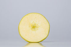 Slice of apple. Slice of a healthy green apple Royalty Free Stock Photos