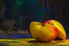 Slice apple- art paint Royalty Free Stock Photo