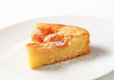 Slice of apple cake Stock Image