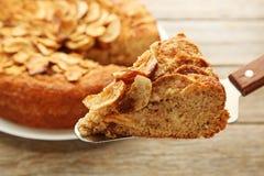 Apple cake stock photo