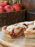 Slice of Apple Cranberry Pie Stock Image