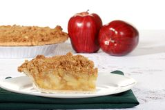 Slice of apple crumble with fruit Royalty Free Stock Photo