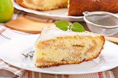 Slice of apple fruit pie Stock Photography