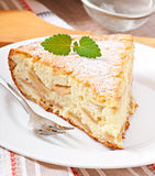 Slice of apple fruit pie Royalty Free Stock Photos