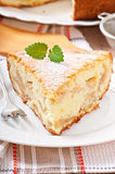 Slice of apple fruit pie Stock Image