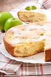 Slice of apple fruit pie Stock Photos