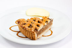 A slice of Apple pie stock images