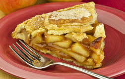 Slice of apple pie Stock Image
