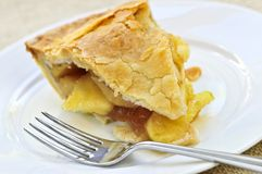 Slice of apple pie Stock Photos