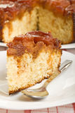 Slice of apple sponge cake Stock Photo
