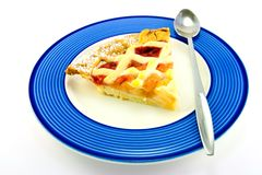 Slice of Apple and Strawberry Pie Stock Photography