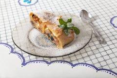 Slice of apple strudel Royalty Free Stock Image