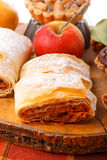 Slice of an apple strudel Royalty Free Stock Image