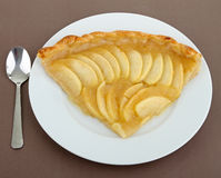 Slice of apple tart Royalty Free Stock Images