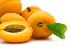 Slice apricot Royalty Free Stock Photography