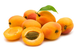 Slice apricot Royalty Free Stock Image