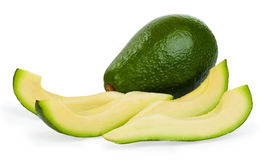 Slice avocado. On white background Royalty Free Stock Photo