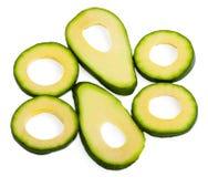 Slice avocado. On white background Royalty Free Stock Photography