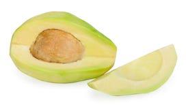 Slice avocado. On white background Stock Photography