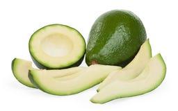 Slice avocado on white background. Studio shoot Stock Photo