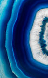 Slice background of blue agate crystal