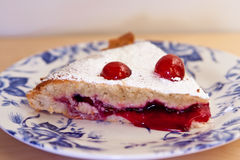 A slice of Bakewell pudding Stock Photos