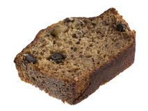 Slice of banana bread with walnuts Royalty Free Stock Photography