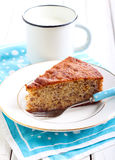 Slice of banana cake Royalty Free Stock Photo