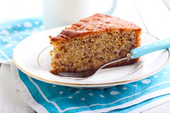 Slice of banana cake Royalty Free Stock Image