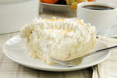 Slice of banana cream pie Royalty Free Stock Photo
