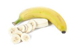 Slice of banana Stock Images